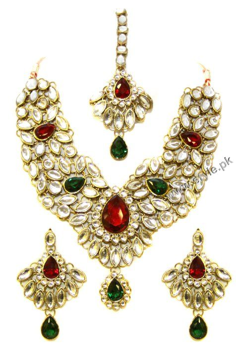 American Diamond And Kundan Necklace Sets For Women By