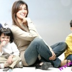 Doctor Shaista wahidi with her Kids