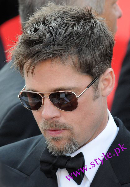 brad pitt hairstyles. rad pitt makeup. from rad
