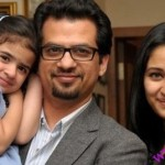 maheen kardar with daughter and husband