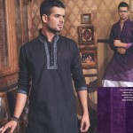 Designs of Black kurta shalwar for men 2011 collection
