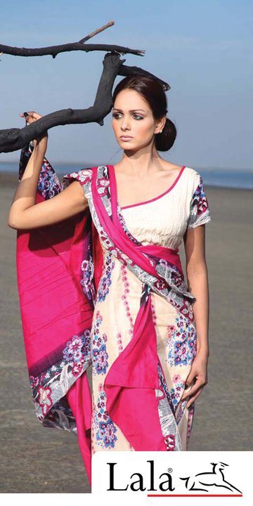 Lala lawn collection 2011d local designer clothes for women
