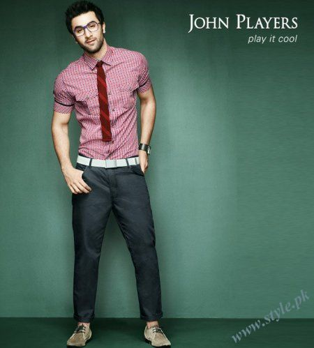 John Players Play It Cool Summer 2011 Collection For Men With Ranbir Kapoor