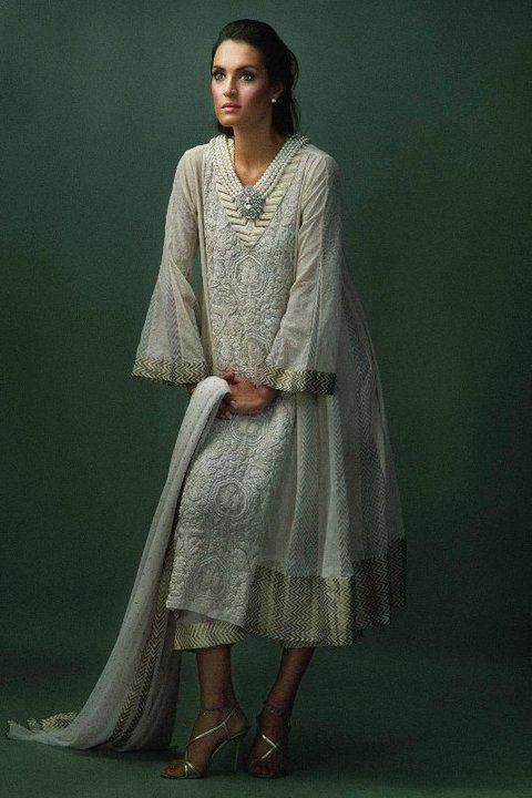 Nadia hussain model for Khaadi Khaas pret collection designer dresses