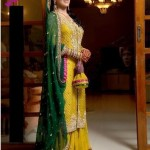 bridal mendhi function clothes