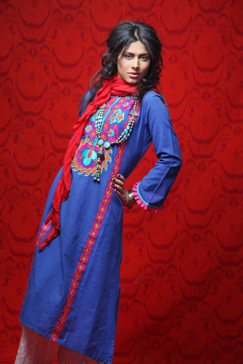 cotton dresses by Khaadi local designer clothes for women