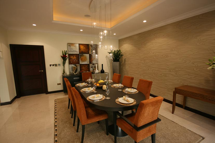 Dining room designing by zen for Modern zen interior design living room