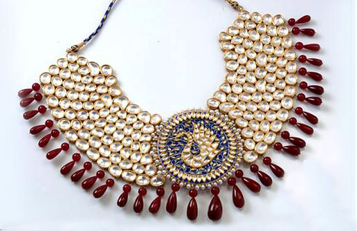 kundan polki jewellery for girls