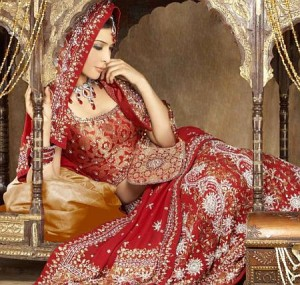 Bridal Red Wedding Lehenga1 300x285