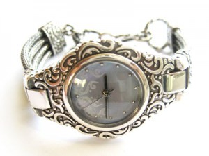 White Silver Watch 300x225