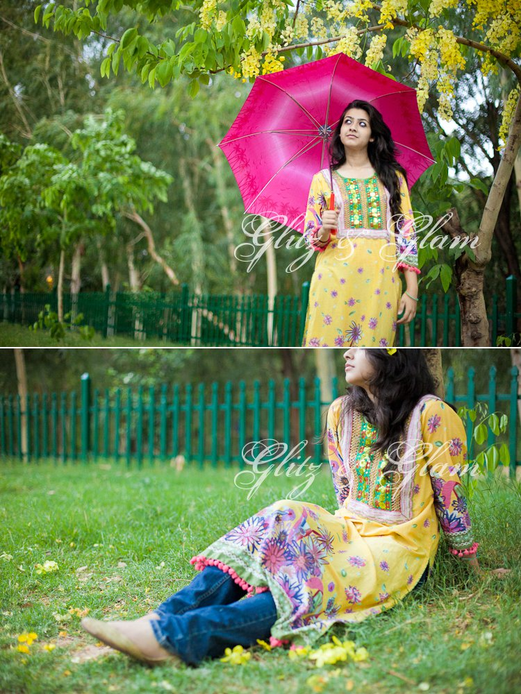 Yellow Frock Design 005 stylish dresses local designer clothes for women