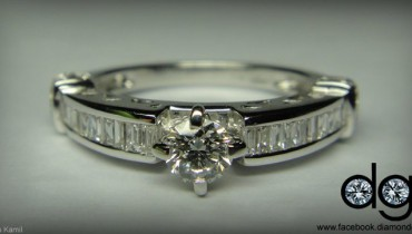 belgium cut diamond ring