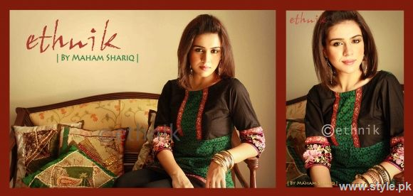black and green kurti 78
