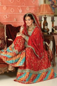 latest red color Bridal dress 199x300