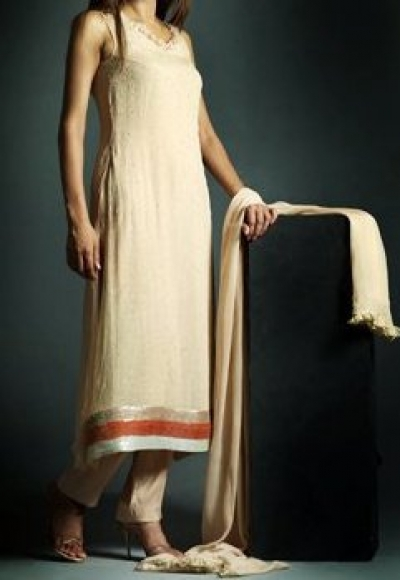 off white dress with chaffon dupatta 56 fashion trends