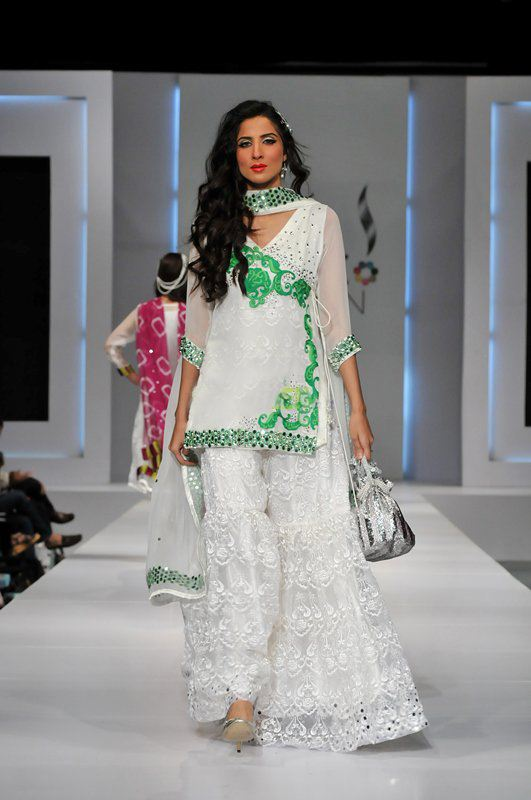 white dress by chand begum