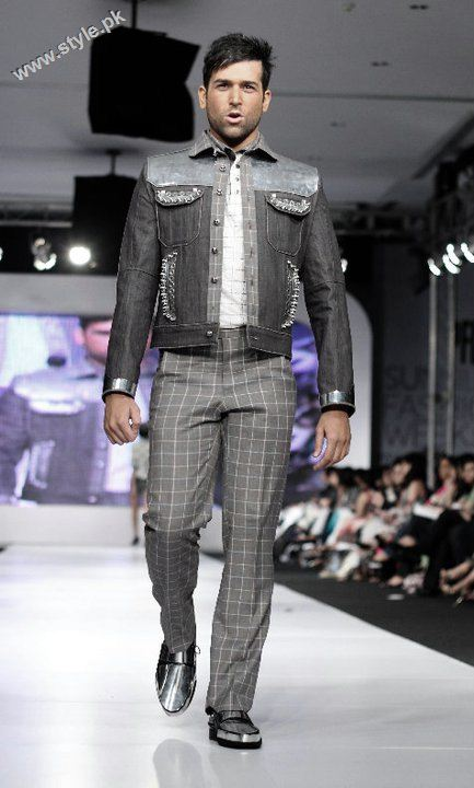 Abdullah pakistani model displaying Ammar belal collection 0293
