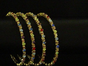 Bangles with colored stones