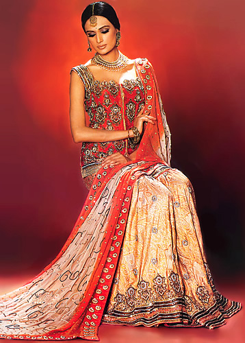 Emboridered Banarsi Gharara For Brides 004