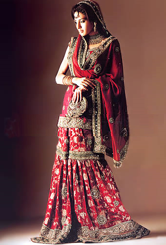 Emboridered Banarsi Gharara For Brides 007