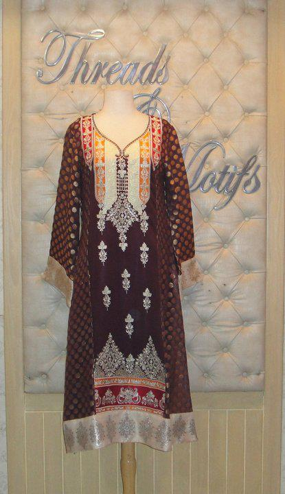 Embrodered Dresses For Eid by Threads and Motifs 2011 626599 fashion trends