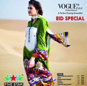 Five Star Vogue Eid Collection 2011 201 300x296 - FIVE STAR VOGUE embroidered silk Eid collection 2011
