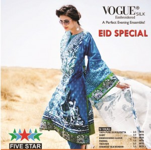 Five Star Vogue Eid Collection 2011 21 300x298 - FIVE STAR VOGUE embroidered silk Eid collection 2011