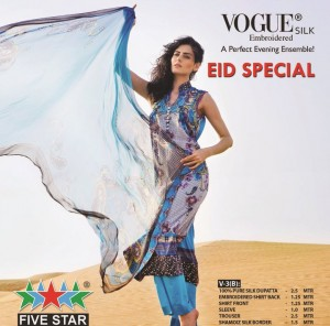 Five Star Vogue Eid Collection 2011 22 300x296 - FIVE STAR VOGUE embroidered silk Eid collection 2011