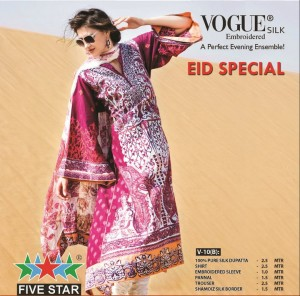 Five Star Vogue Eid Collection 2011 7 300x296 - FIVE STAR VOGUE embroidered silk Eid collection 2011