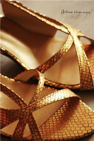 Gold Snake Heel at Shoe Therapy 007