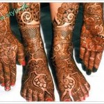 Latest Mehandi Designs For Brides 2011