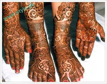 Mehndi Design For Bridal Collection : Latest mehandi designs for brides