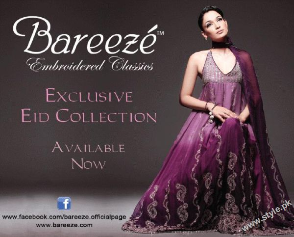 Latest bareeze eid collection 7382 fashion brands designer dresses