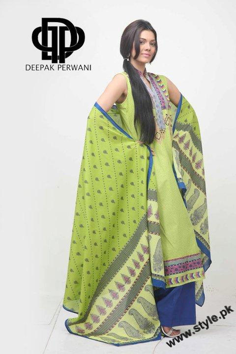 Mid Summer Lawn Eid Collection For Women 2011 By Deepek Perwani 3 style.pk