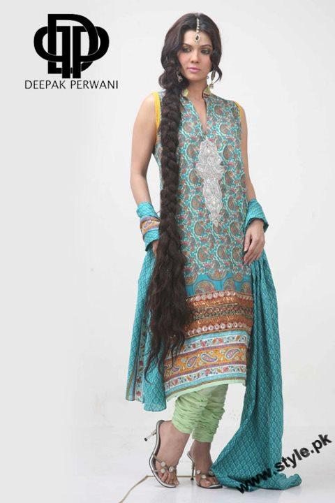 Mid Summer Lawn Eid Collection For Women 2011 By Deepek Perwani 6 style.pk