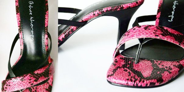 Pink Snake Heels at Shoe Therapy 008