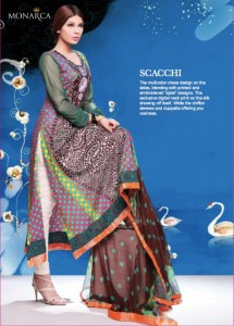 Rashid Textile Eid Collection 2011 Monarca Eid collections 2011 f 215x300