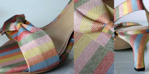 Striped Bow Heels 004