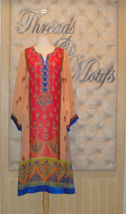 latest dresses for girls on eid by threads and motifs 214848