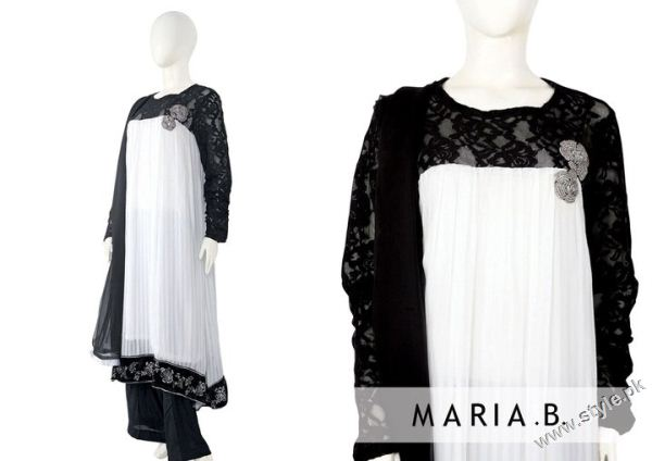 latest pakistani fashion dresses by Maria B 8749 designer maria b