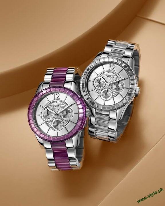 Latest wrist watches for girls by guess 2011 2012 for Watches for girls