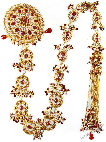 Latest Bridal Fashion of Wearing Paranda style.pk 001 bridal dresses accessories