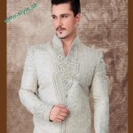 Latest Off-White Colour Sherwani For Grooms