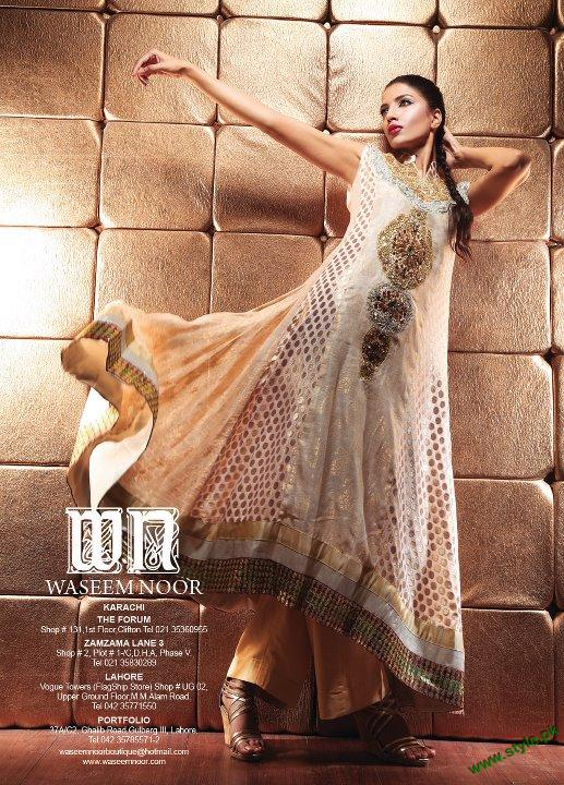 Latest Party Wears Collection 2011 By Waseem Noor 5 style.pk