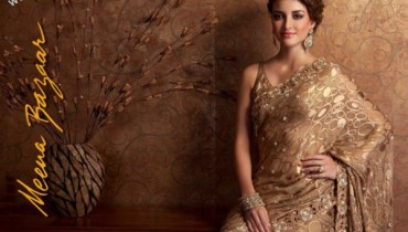Exclusive Wedding Collection Sarees By Meena Bazar 2011-2012 style.pk 001