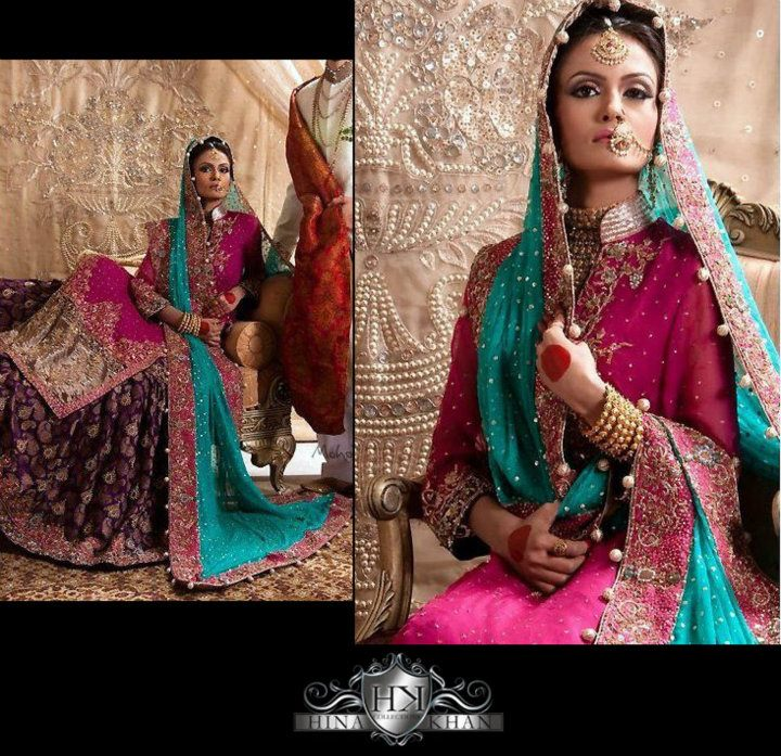 Exotic Bridal Wears Collection By Hina Khan 2011 2012