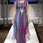 Latest Party Wears Dresses By Deep Red At London Fashion Week 2011