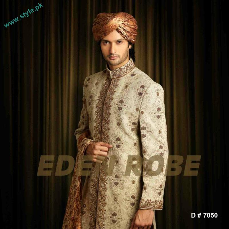 Latest Grooms Collection By Eden Robe 2011 12 1 style.pk  men wear bridal dresses