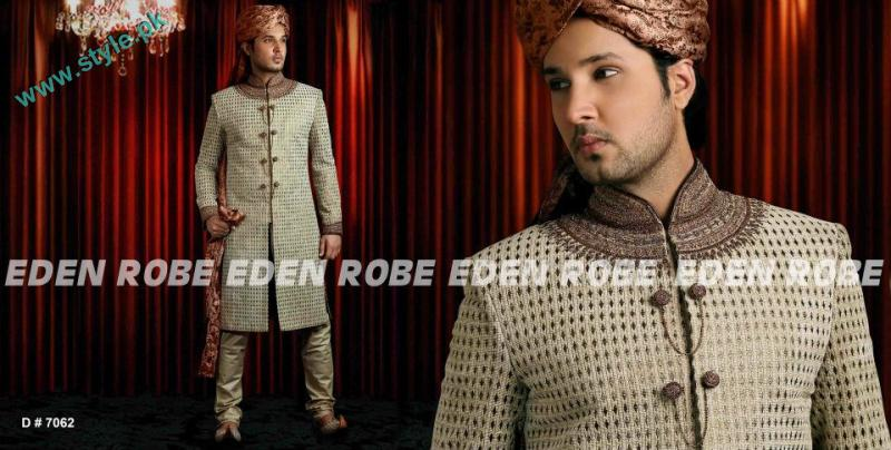 Latest Grooms Collection By Eden Robe 2011 12 4 style.pk  men wear bridal dresses