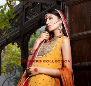 mehndi dresses for girls by Deziners collection (2)